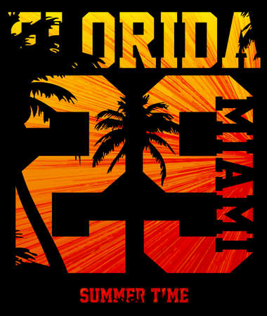 Florida summer tee graphic design Ilustração