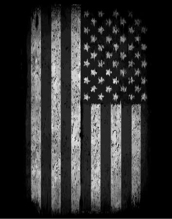 american history: American grunge flag. An american grunge flag for a background of a poster. Illustration