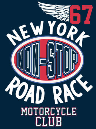 Newyork Sport college atletische typografie, t-shirt graphics, vectoren Stock Illustratie