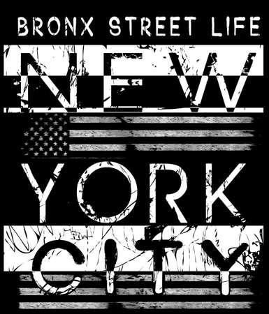 New york city typography; t-shirt graphics; vectors
