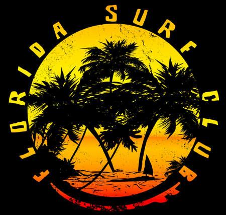California Typography; t-shirt graphics; poster; banner; flyer; print; postcard Illustration