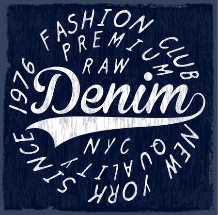 Originals Denim vector T-shirt design Posters
