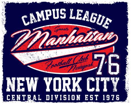 陸上競技部ニューヨーク;バーシティ スポーツ ベクトル印刷と代表チーム。T シャツやベクトルに他の用途に。T シャツ グラフィック