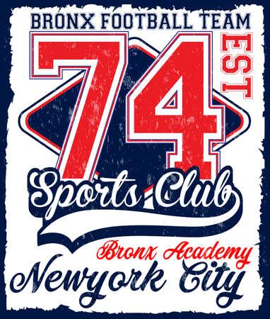 American football Athletic New york Varsity Sport vector print and t shirt design Illustration