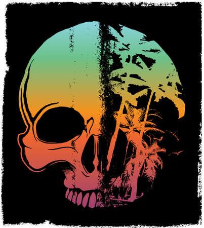 Skull Summer T shirt Graphic Design