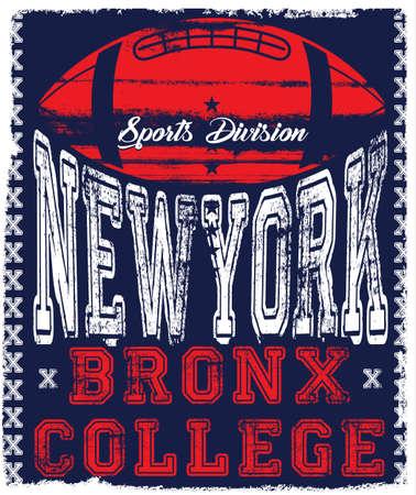 ニューヨーク代表チームのスポーツ ベクトル印刷と代表チーム。T シャツやベクトルに他の用途に。T シャツ グラフィック  イラスト・ベクター素材