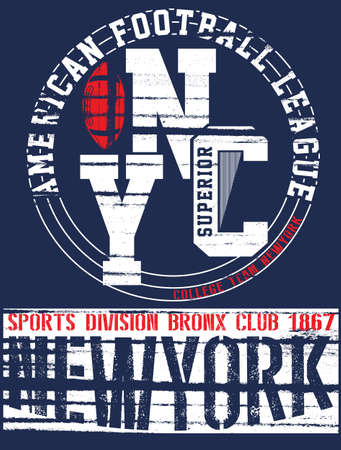 New york Varsity Sport vector print and varsity. For t-shirt or other uses in vector.T shirt graphic