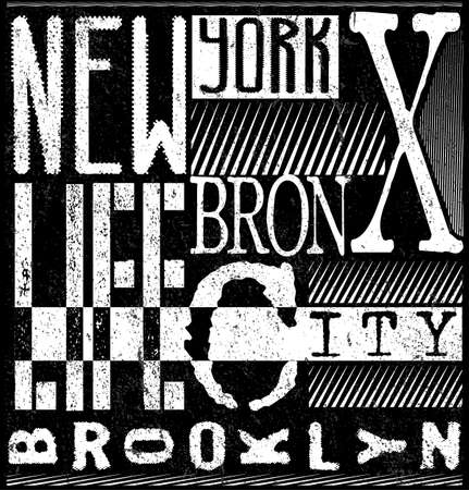 New York typography, t-shirt graphics. vector illustrations.