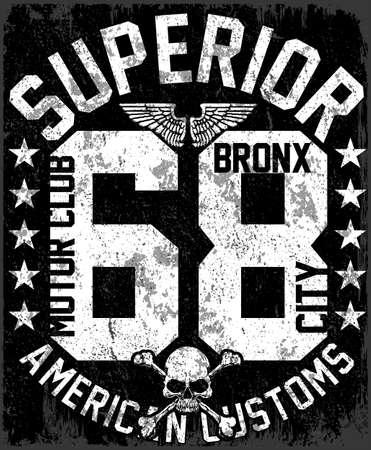 New York varsity sport t-shirt template. Illustration