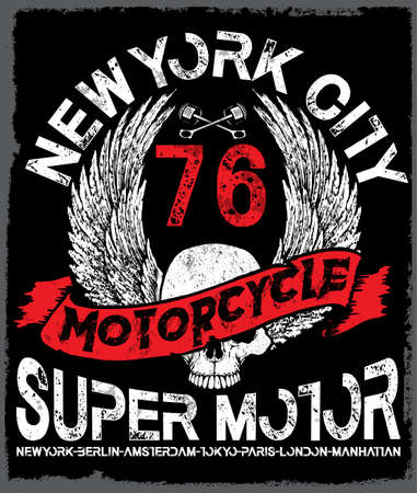halloween tee shirt: Motorcycle Poster Skull Tee Graphic Design