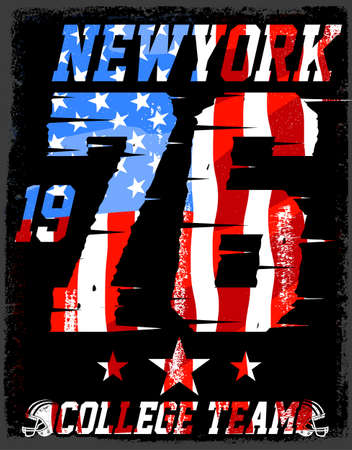 dept: Athletic Dept. New york  Varsity Sport vector print and varsity. For t-shirt or other uses in vector.T shirt graphic