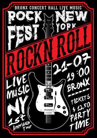 Rockstar Vintage Rock and Roll typographische für T-Shirt; T-Shirt-Design; Poster; Vektor-Illustration Standard-Bild - 74864053