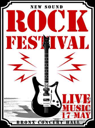Rock Star vintage rock and roll typographic for t-shirt; tee design; poster; vector illustration