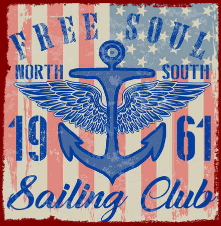 Sailing poster design