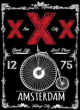 Amsterdam vintage posters Stockfoto - 75618814