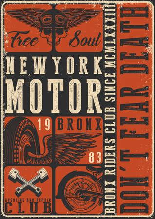 Motorcycle tee grafisch ontwerp Stockfoto - 75931534