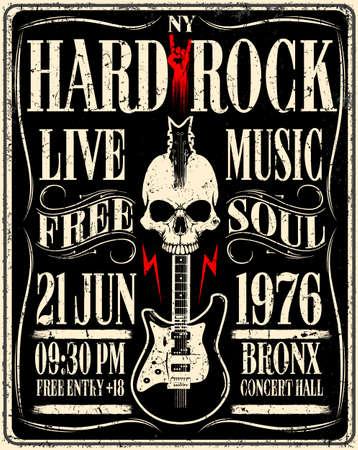 Cartel de la música de Hard Rock Foto de archivo - 75931541