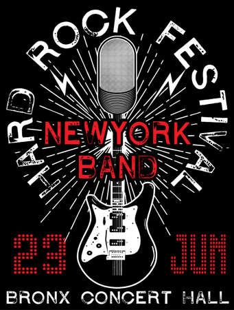 hardcore: Artistic Hard Rock Music Poster Illustration