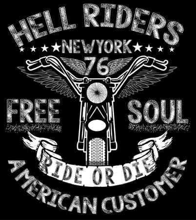 Artistic Motorcycle tee graphic design