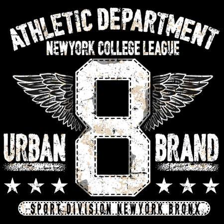 大学ニューヨーク タイポグラフィ、グラフィック t シャツ