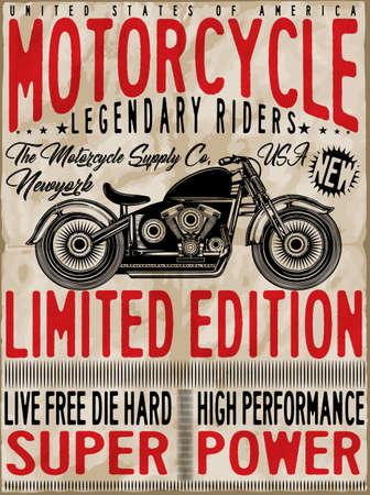 Motorcycle label t-shirt design Vector Illustration