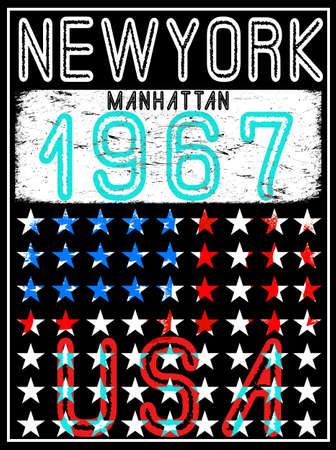 New York sport typography; t-shirt graphics; vectors