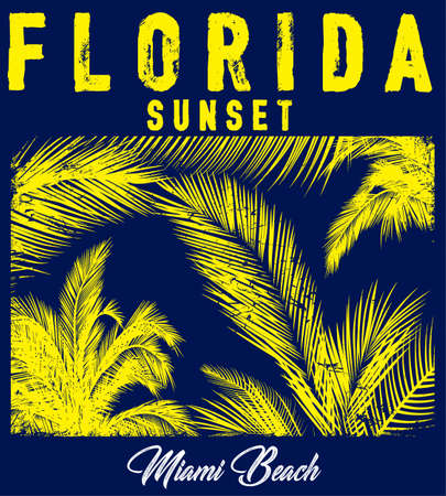 beach typography with floral illustration for t-shirt print , vector illustration.
