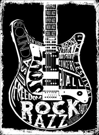 Cartel de la música de Hard Rock