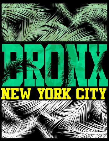 New York Bronx T shirt Design  イラスト・ベクター素材