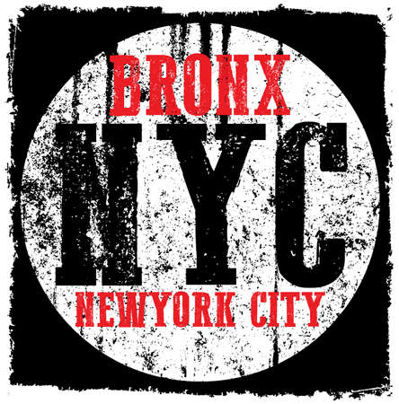 New York City grunge vector print and varsity. For t-shirt or other uses in vector.T shirt graphic