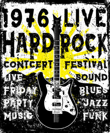 logo music: Rock Poster monochrome hipster vintage label; badge; flayer