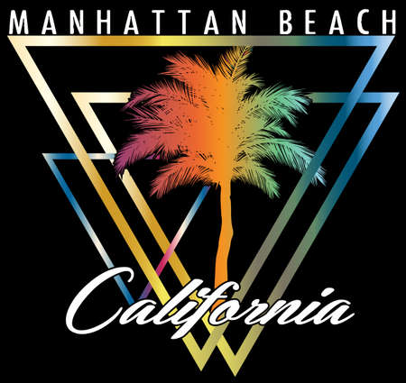 California miami summer tshirt graphic design