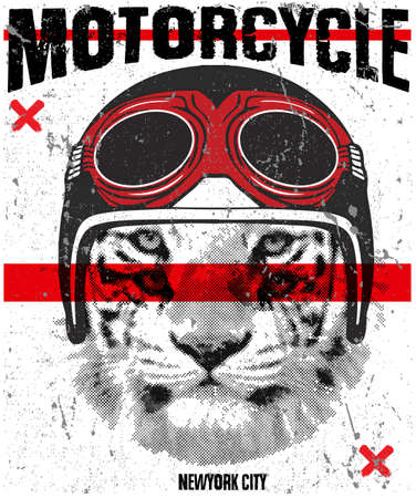 Animal tee vintage graphic design Illustration