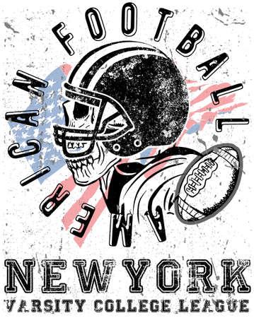 Football sport typography; t-shirt graphics; vectors Stock Vector - 80790799