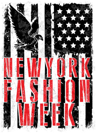 New York Fashion Week typography, t-shirt graphics.