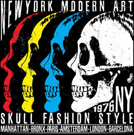 Skull T shirt Graphic Design Stock Vector - 82401422