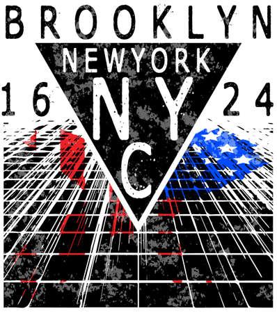 Newyork City typography, slogan, t-shirt graphics, vectors,