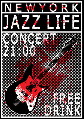 Music Concert Poster Tee Graphic Design