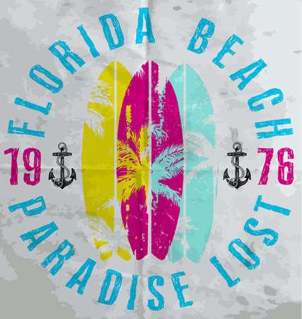 Summer poster Florida 矢量图像