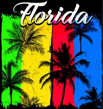 Summer poster Florida Illustration