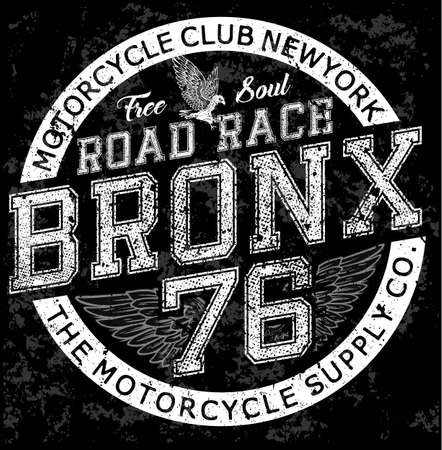 Man vintage t shirt graphic design Bronx Motorcycle