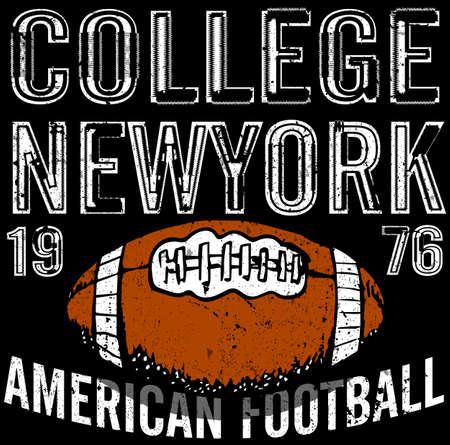 athletic wear: Sport college training typography Illustration