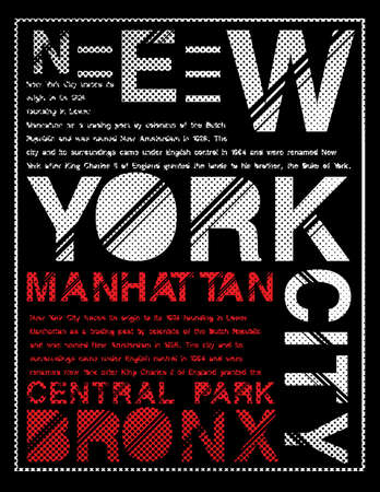 New York typography graphic design.