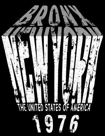 Newyork typography graphic design Vectores