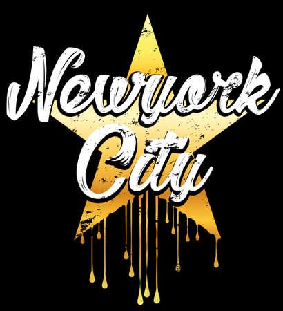 Newyork typography graphic design Illustration