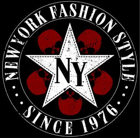 New York typography design Illustration