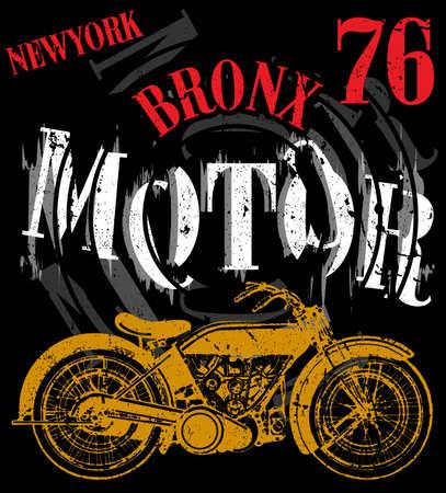 Motorradrennen Typografie Grafiken Und Plakat Schädel Und Old