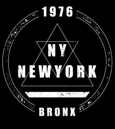 Newyork fashion tee typography graphic design