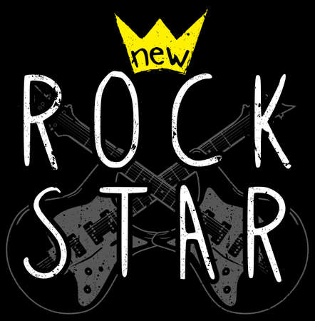 Rock grafisch ontwerp met gitaar