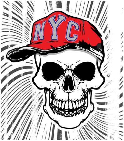 Skull T shirt design.